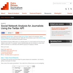 Social Network Analysis for Journalists Using the Twitter API