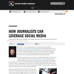 How Journalists Can Leverage Social Media