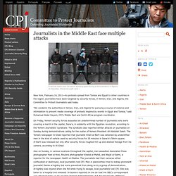 Journalists in the Middle East face multiple attacks