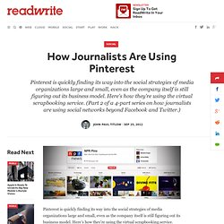 How Journalists Are Using Pinterest
