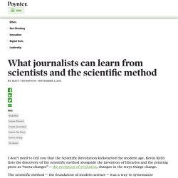 What journalists can learn from scientists and the scientific method
