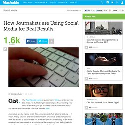 How Journalists are Using Social Media for Real Results