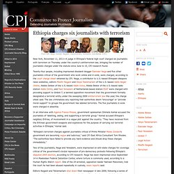 Ethiopia charges six journalists with terrorism