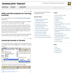 Journalists' Toolkit