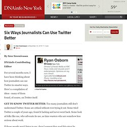 Six Ways Journalists Can Use Twitter Better