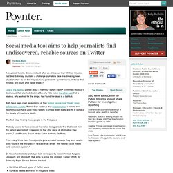 Social media tool aims to help journalists find undiscovered, reliable sources on Twitter