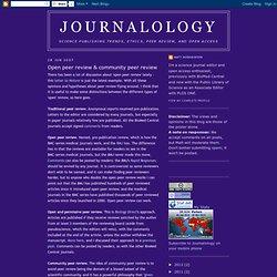 Open peer review & community peer review