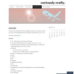 journals | curiously crafty.