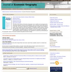 Oxford Journals | Economics & Social Sciences | Journal of Economic Geography