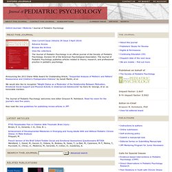 Journal of Pediatric Psychology