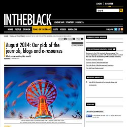 August 2014: Our pick of the journals, blogs and e-resources - INTHEBLACK