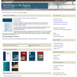 Oxford Journals | Social Sciences | Sociology of Religion