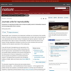 Journals unite for reproducibility