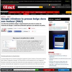 Les sites des journaux belges réindexés dans Google Search