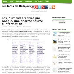 Les journaux archivés par Google, une énorme source d'information