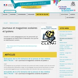 Journaux et magazines scolaires et lycéens