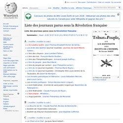 Liste des journaux parus sous la Révolution française