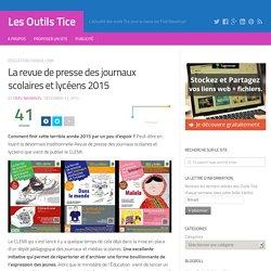 La revue de presse des journaux scolaires et lycéens 2015