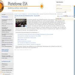 PLATEFORME ESA 16/06/15 Présentations lors de la journée annuelle de la Plateforme ESA - 16 juin 2015