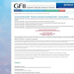 """Journée d'étude du GFII : """"Données culturelles, patrimoine et Open Linked Data"""" - Journée d'étude"""
