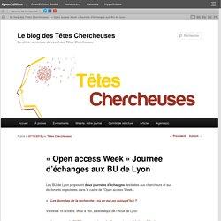 « Open access Week » Journée d'échanges aux BU de Lyon