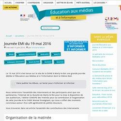 Journée EMI du 19 mai 2016