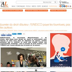 Journée du droit d'auteur : l'UNESCO paye les fournitures, pas les auteurs