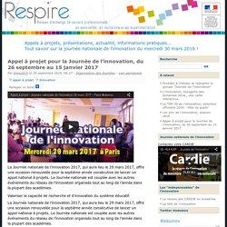 Appel à projet pour la Journée de l'innovation, du 26 septembre au 15 janvier 2017