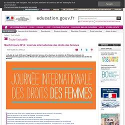 Mardi 8 mars 2016 : Journée internationale des droits des femmes