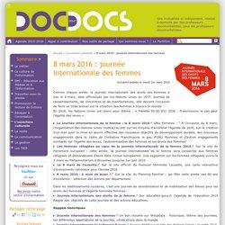 8/03/16 : ressources pour la journée internationale des femmes