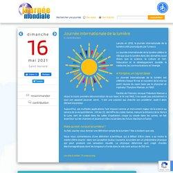 Journée internationale de la lumière, le 16 mai