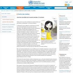 Journée mondiale de la santé mentale, 10 octobre