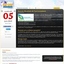 Journée Mondiale de l'environnement, le 5 juin