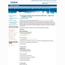Journée mondiale sans Facebook le 28 février – experts de l'UQAM sur le sujet