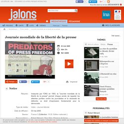 Journée mondiale de la liberté de la presse