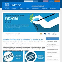 Journée mondiale de la liberté de la presse 2017