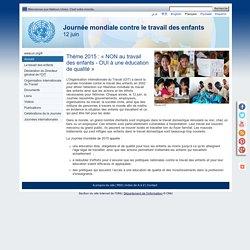 Journée mondiale contre le travail des enfants, 12 juin
