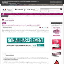 """Journée nationale """"Non au harcèlement"""""""