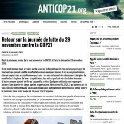 Retour sur la journée de lutte du 29 novembre contre la COP21 - AntiCOP21.org