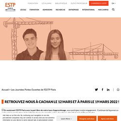 Journée Portes Ouvertes digitale de l'ESTP Paris : 6 février 2021