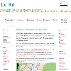 Journée du Patrimoine - Carto-balade - Le Rif