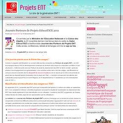 Projets ENT » Usages » Journée Porteurs de Projets EducaTICE 2011