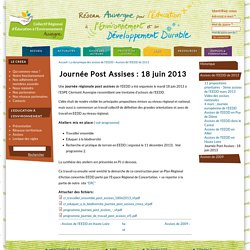 Journée Post Assises : 18 juin 2013