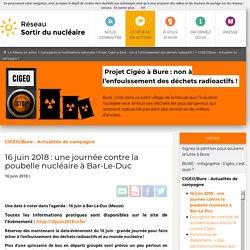 16 juin 2018: une journée contre la poubelle nucléaire à Bar-Le-Duc