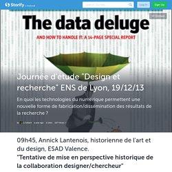 """Journée d'étude """"Design et recherche"""" ENS de Lyon, 19/12/13 (with image, tweets) · CellardLoup"""