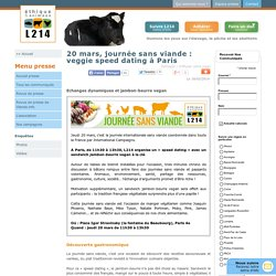20 mars, journée sans viande : veggie speed dating à Paris