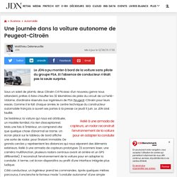 Une journée dans la voiture autonome de Peugeot-Citroën