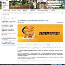 Journées de la sécurité routière au travail 2020 - Internet départemental de l'État dans l'Orne
