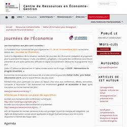 Journées de l'Économie - Centre de Ressources en Économie-Gestion