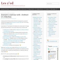 Journées contenu web : écriture et rédaction